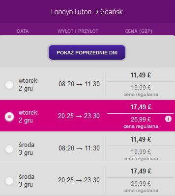 londyn gdansk