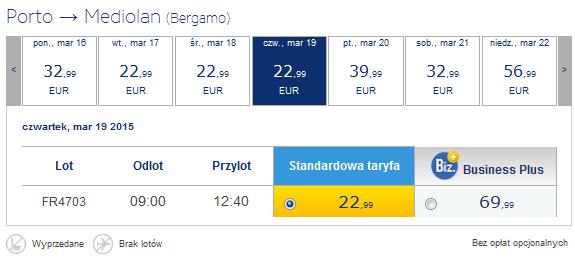 porto bergamo 22,99